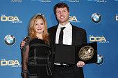 Actress Jennifer Jason Leigh and director Matthew Heineman winner of the Outstanding Directorial Achievement in Documentary Award for 'Cartel Land'...