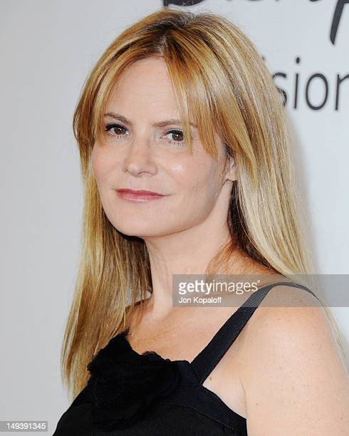 Actress Jennifer Jason Leigh arrives at the 2012 Disney and ABC TCA Summer Press Tour at the Beverly Hilton Hotel on July 27 2012 in Beverly Hills...
