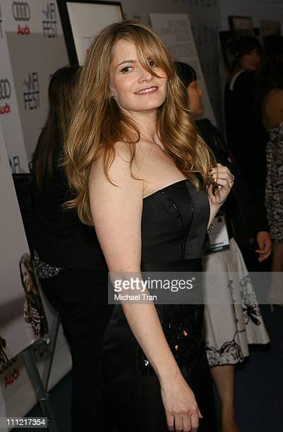 Actress Jennifer Jason Leigh arrives at the AFI Fest 2007 premiere of 'Margot At The Wedding' held at the Arclight Cinemas on November 3 2007 in...