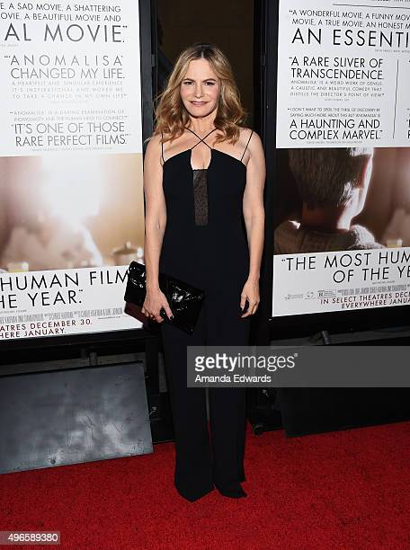 Actress Jennifer Jason Leigh arrives at the AFI FEST 2015 Presented by Audi Premiere of Paramount Pictures' 'Anomalisa' at the Egyptian Theatre on...