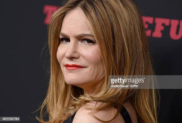 Actress Jennifer Jason Leigh arrives at the Los Angeles Premiere of 'The Hateful Eight' at ArcLight Cinemas Cinerama Dome on December 7 2015 in...