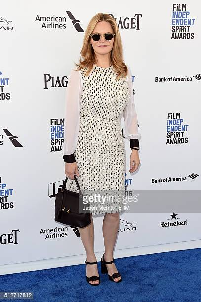 Actress Jennifer Jason Leigh attends the 2016 Film Independent Spirit Awards on February 27 2016 in Santa Monica California