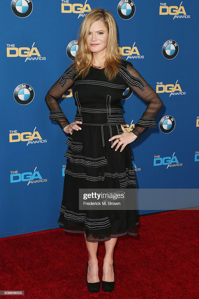 Actress Jennifer Jason Leigh attends the 68th Annual Directors Guild Of America Awards at the Hyatt Regency Century Plaza on February 6 2016 in Los...