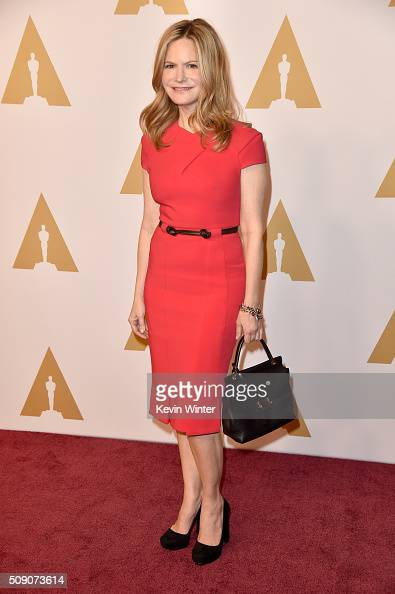 Actress Jennifer Jason Leigh attends the 88th Annual Academy Awards nominee luncheon on February 8 2016 in Beverly Hills California