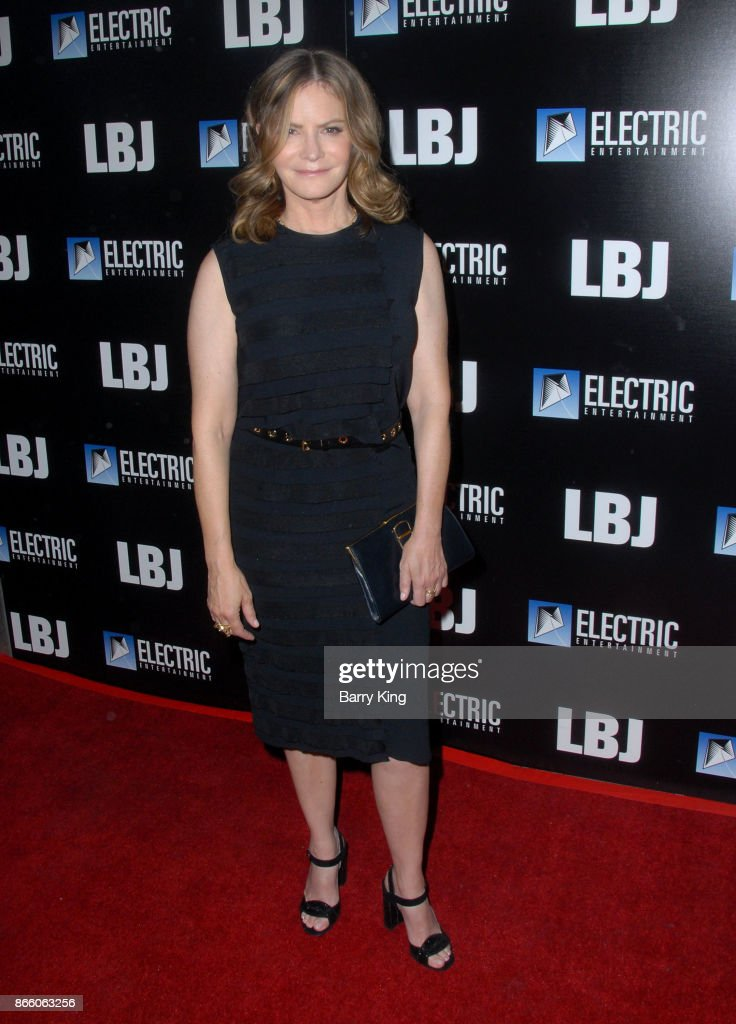Actress Jennifer Jason Leigh attends the premiere of Electric Entertainment's 'LBJ' at ArcLight Hollywood on October 24, 2017 in Hollywood, California.