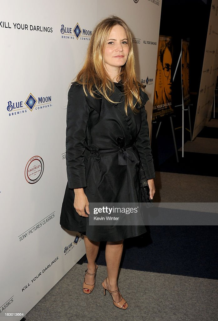 Actress <a gi-track='captionPersonalityLinkClicked' href=/galleries/search?phrase=Jennifer+Jason+Leigh&family=editorial&specificpeople=208958 ng-click='$event.stopPropagation()'>Jennifer Jason Leigh</a> attends the premiere of Sony Pictures Classics' 'Kill Your Darlings' at Writers Guild Theater on October 3, 2013 in Beverly Hills, California.
