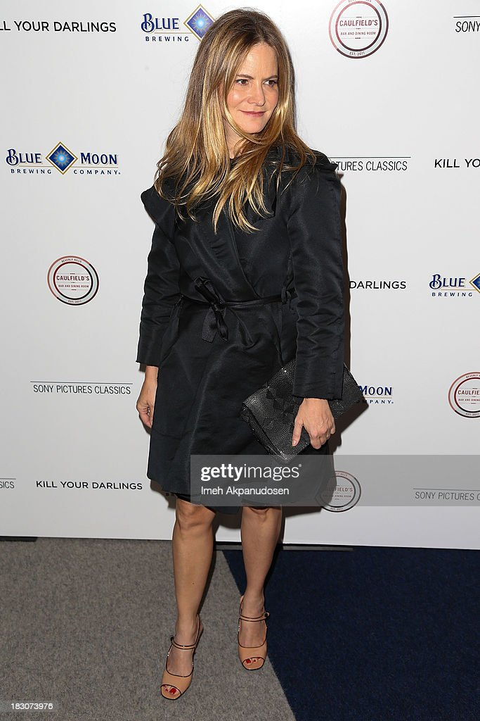 Actress Jennifer Jason Leigh attends the premiere of Sony Pictures Classics' 'Kill Your Darlings' at Writers Guild Theater on October 3, 2013 in Beverly Hills, California.