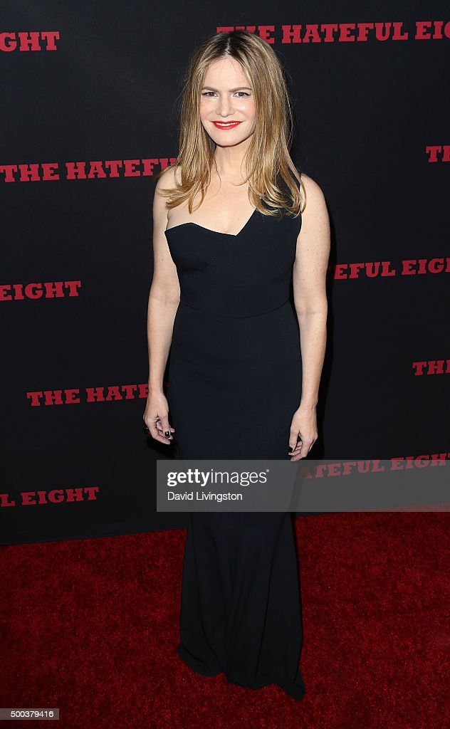 Actress Jennifer Jason Leigh attends the premiere of The Weinstein Company's 'The Hateful Eight' at ArcLight Cinemas Cinerama Dome on December 7, 2015 in Hollywood, California.