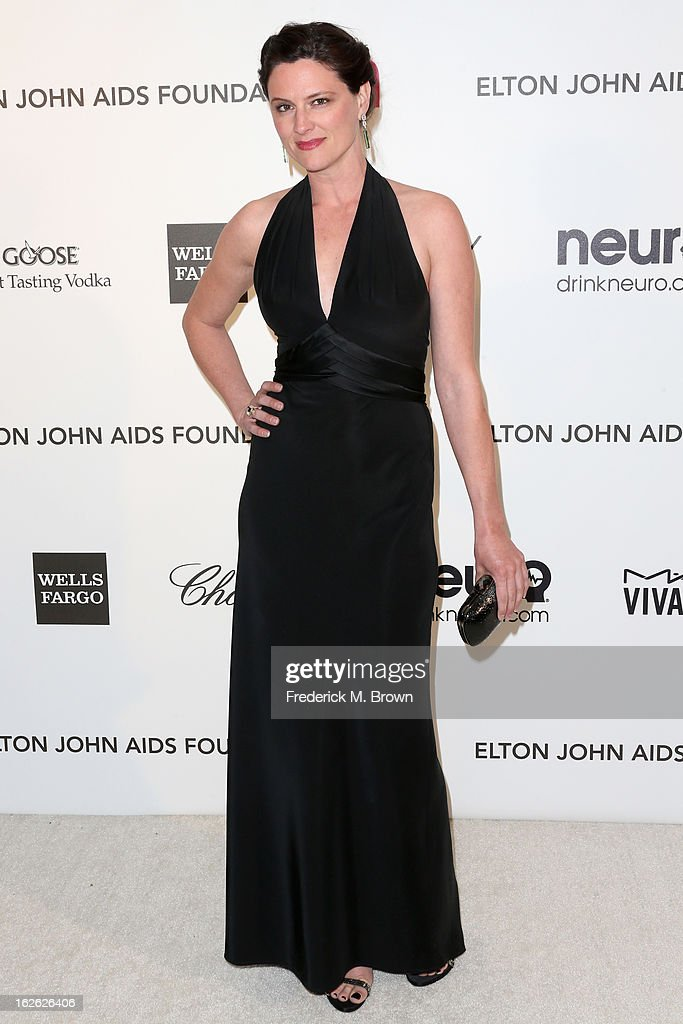 Actress Jennifer Lafleur arrives at the 21st Annual Elton John AIDS Foundation's Oscar Viewing Party on February 24, 2013 in Los Angeles, California.