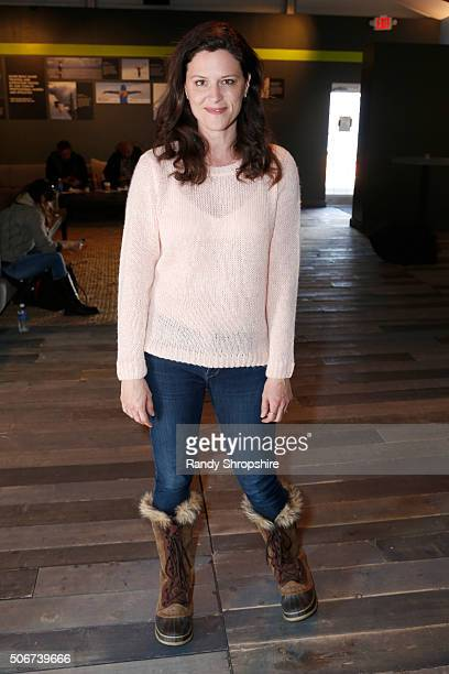 Actress Jennifer Lafleur attends the Getty Images Portrait Studio Lounge hosted by Eddie Bauer during the 2016 Sundance Film Festival at Village at...