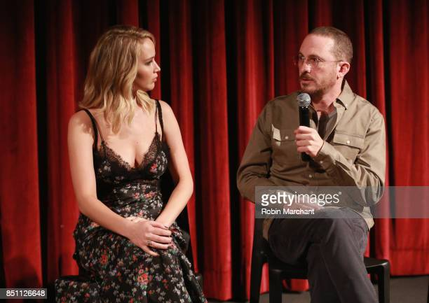 Actress Jennifer Lawrence and director Darren Aronofsky attend an official Academy screening of MOTHER hosted by The Academy of Motion Picture Arts...