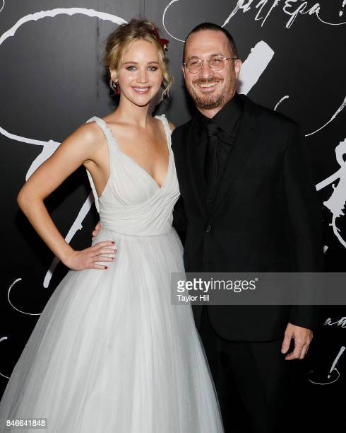 Actress Jennifer Lawrence and director Darren Aronofsky attend the premiere of 'mother' at Radio City Music Hall on September 13 2017 in New York City