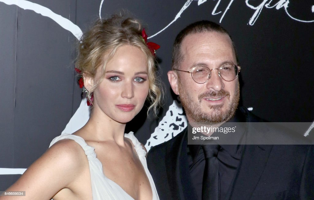 Actress Jennifer Lawrence and director Darren Aronofsky attend the 'mother!' New York premiere at Radio City Music Hall on September 13, 2017 in New York City.