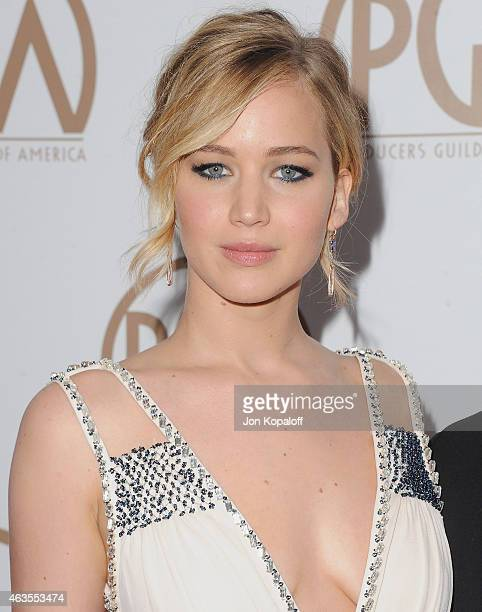 Actress Jennifer Lawrence arrives at the 26th Annual PGA Awards at the Hyatt Regency Century Plaza on January 24 2015 in Los Angeles California
