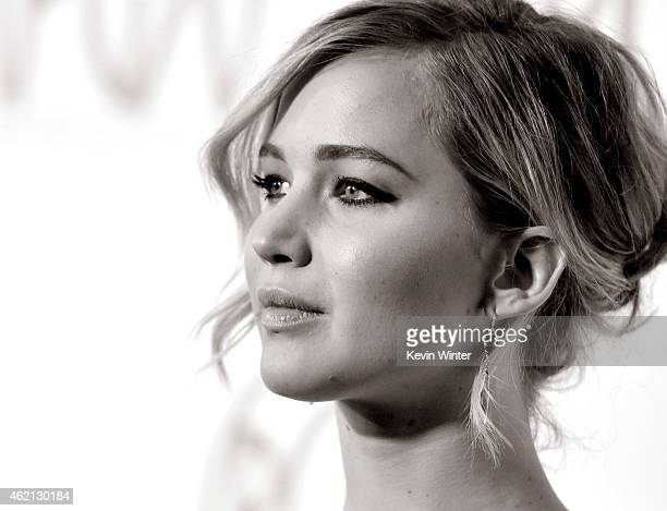 Actress Jennifer Lawrence arrives at the 26th Annual Producers Guild of America Awards at the Hyatt Regency Century Plaza Hotel on January 24 2015 in...