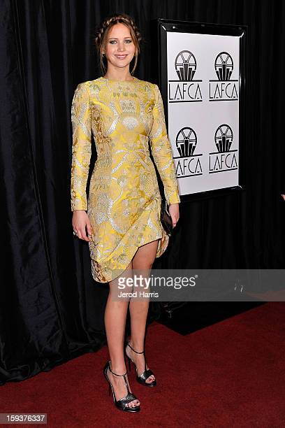 Actress Jennifer Lawrence arrives at the 38th Annual Los Angeles Film Critics Association Awards at InterContinental Hotel on January 12 2013 in...