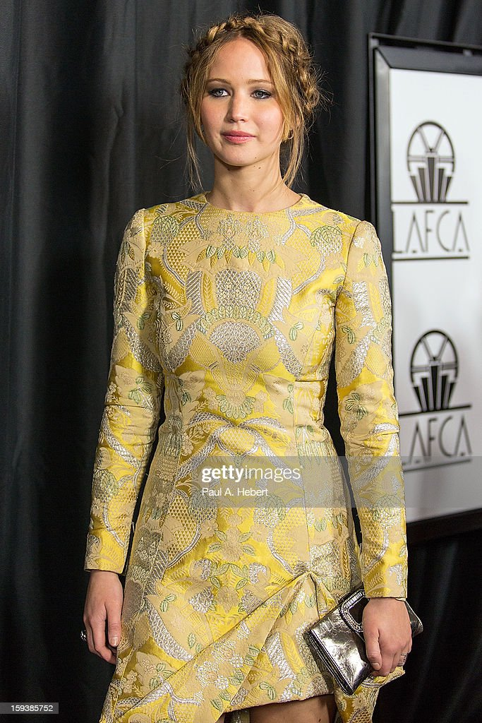 Actress Jennifer Lawrence arrives at the 38th Annual Los Angeles Film Critics Association Awards held at the InterContinental Hotel on January 12, 2013 in Century City, California.