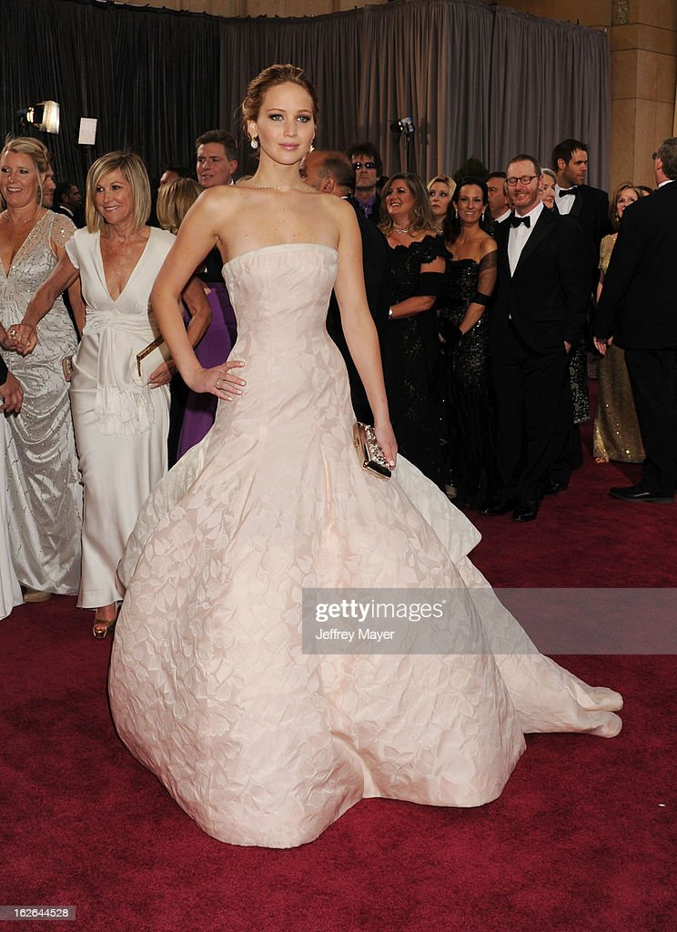 Actress Jennifer Lawrence arrives at the 85th Annual Academy Awards at Hollywood & Highland Center on February 24, 2013 in Hollywood, California.
