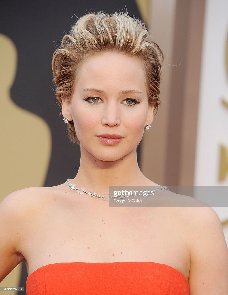 Actress Jennifer Lawrence arrives at the 86th Annual Academy Awards at Hollywood & Highland Center on March 2, 2014 in Hollywood, California.