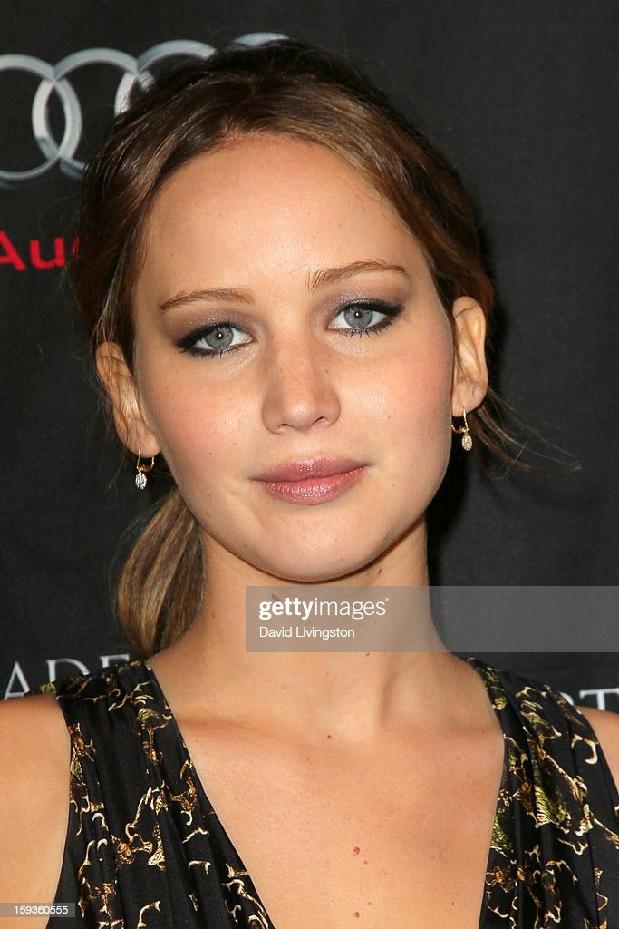 Actress Jennifer Lawrence arrives at the BAFTA Los Angeles 2013 Awards Season Tea Party held at the Four Seasons Hotel Los Angeles on January 12, 2013 in Los Angeles, California.
