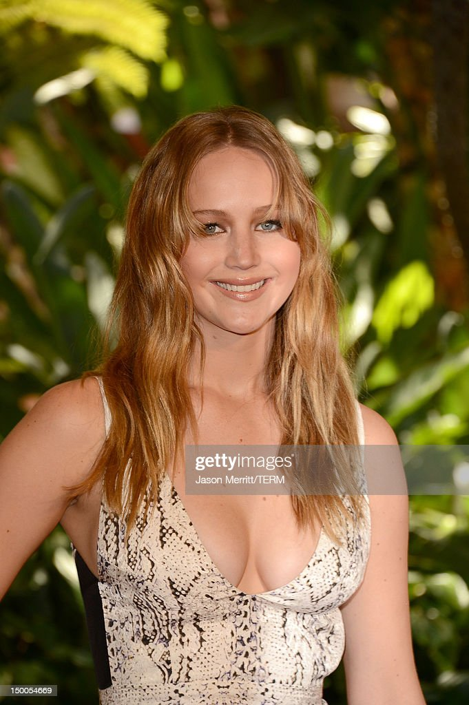 Actress <a gi-track='captionPersonalityLinkClicked' href=/galleries/search?phrase=Jennifer+Lawrence&family=editorial&specificpeople=1596040 ng-click='$event.stopPropagation()'>Jennifer Lawrence</a> arrives at the Hollywood Foreign Press Association's 2012 Installation Luncheon held at the Beverly Hills Hotel on August 9, 2012 in Beverly Hills, California.