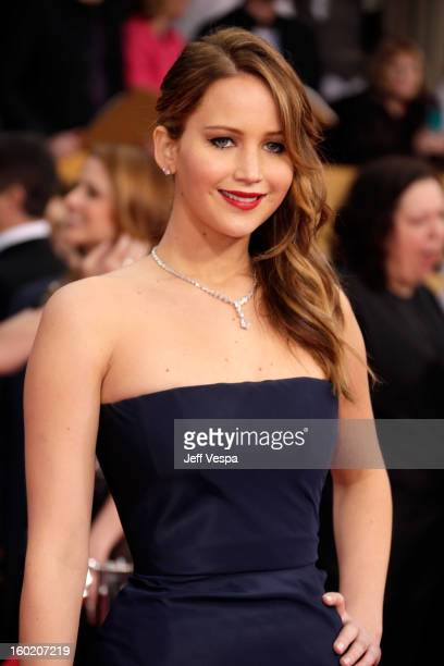 Actress Jennifer Lawrence arrives at the19th Annual Screen Actors Guild Awards held at The Shrine Auditorium on January 27 2013 in Los Angeles...