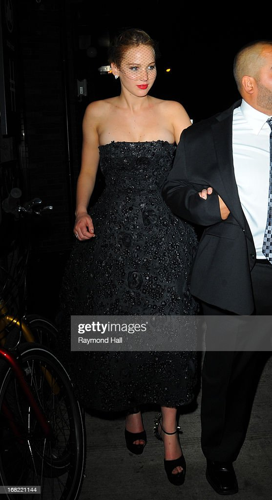 Actress Jennifer Lawrence attend the 'PUNK: Chaos To Couture' Costume Institute Gala after party at The Standard hotel on May 6, 2013 in New York City.