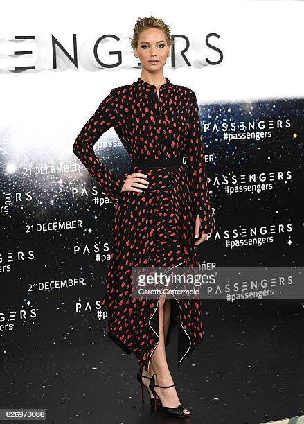 Actress Jennifer Lawrence attends a photocall for the film 'Passengers' at Claridge's Hotel on December 1 2016 in London England