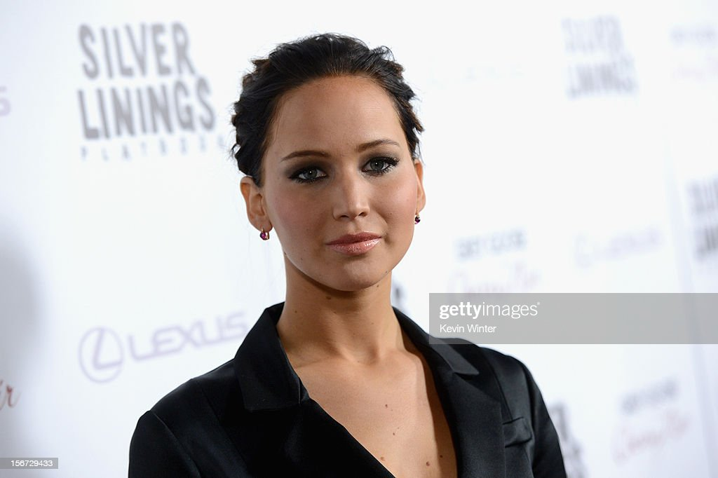 Actress <a gi-track='captionPersonalityLinkClicked' href=/galleries/search?phrase=Jennifer+Lawrence&family=editorial&specificpeople=1596040 ng-click='$event.stopPropagation()'>Jennifer Lawrence</a> attends a screening of The Weinstein Company's 'Silver Linings Playbook' at the Academy of Motion Picture Arts and Sciences on November 19, 2012 in Beverly Hills, California.