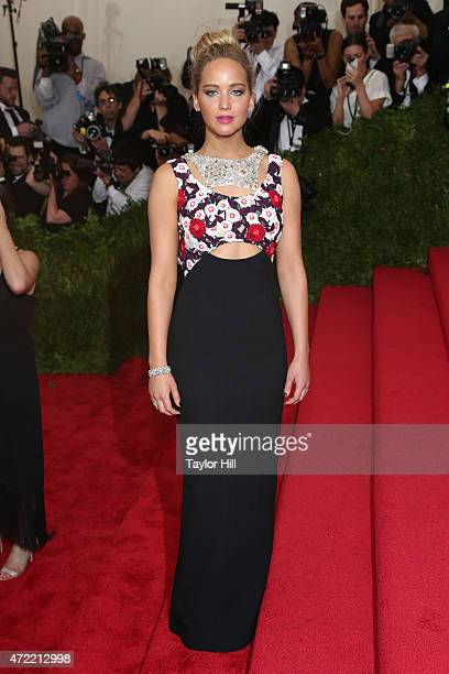 Actress Jennifer Lawrence attends 'China Through the Looking Glass' the 2015 Costume Institute Gala at Metropolitan Museum of Art on May 4 2015 in...