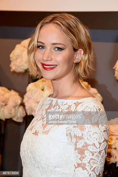 Actress Jennifer Lawrence attends ELLE's 21st Annual Women in Hollywood Celebration at the Four Seasons Hotel on October 20 2014 in Beverly Hills...