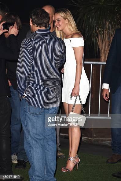 Actress Jennifer Lawrence attends Entertainment Weekly's ComicCon 2015 Party sponsored by HBO Honda Bud Light Lime and Bud Light Ritas at FLOAT at...