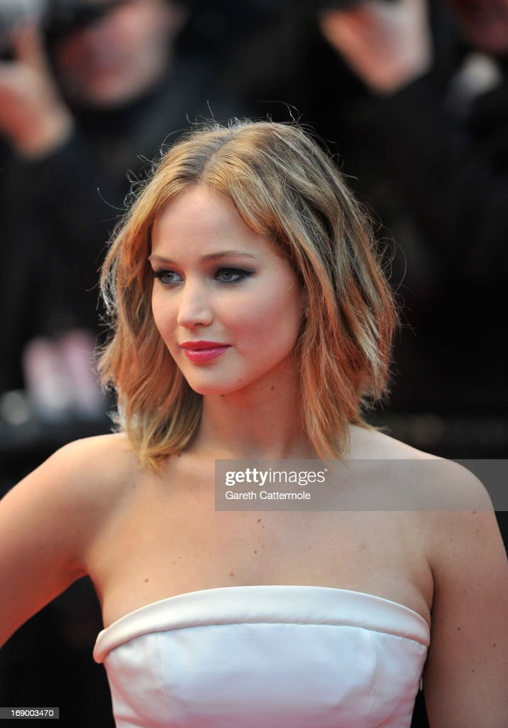 Actress <a gi-track='captionPersonalityLinkClicked' href=/galleries/search?phrase=Jennifer+Lawrence&family=editorial&specificpeople=1596040 ng-click='$event.stopPropagation()'>Jennifer Lawrence</a> attends 'Jimmy P. (Psychotherapy Of A Plains Indian)' Premiere during the 66th Annual Cannes Film Festival at Grand Theatre Lumiere on May 18, 2013 in Cannes, France.