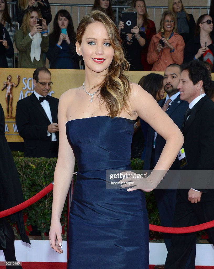 Actress Jennifer Lawrence attends the 19th Annual Screen Actors Guild Awards at The Shrine Auditorium on January 27, 2013 in Los Angeles, California.