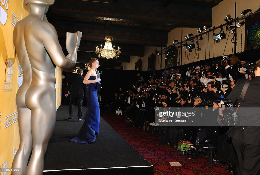 Actress Jennifer Lawrence attends the 19th Annual Screen Actors Guild Awards at The Shrine Auditorium on January 27, 2013 in Los Angeles, California. (Photo by Stefanie Keenan/WireImage) 23116_025_2231.jpg