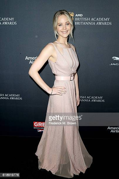 Actress Jennifer Lawrence attends the 2016 AMD British Academy Britannia Awards presented by Jaguar Land Rover and American Airlines at The Beverly...