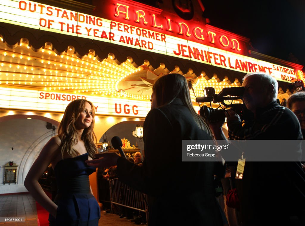 Actress Jennifer Lawrence attends the 28th Santa Barbara International Film Festival Outstanding Performer Of The Year Presented To Jennifer Lawrence on February 2, 2013 in Santa Barbara, California.