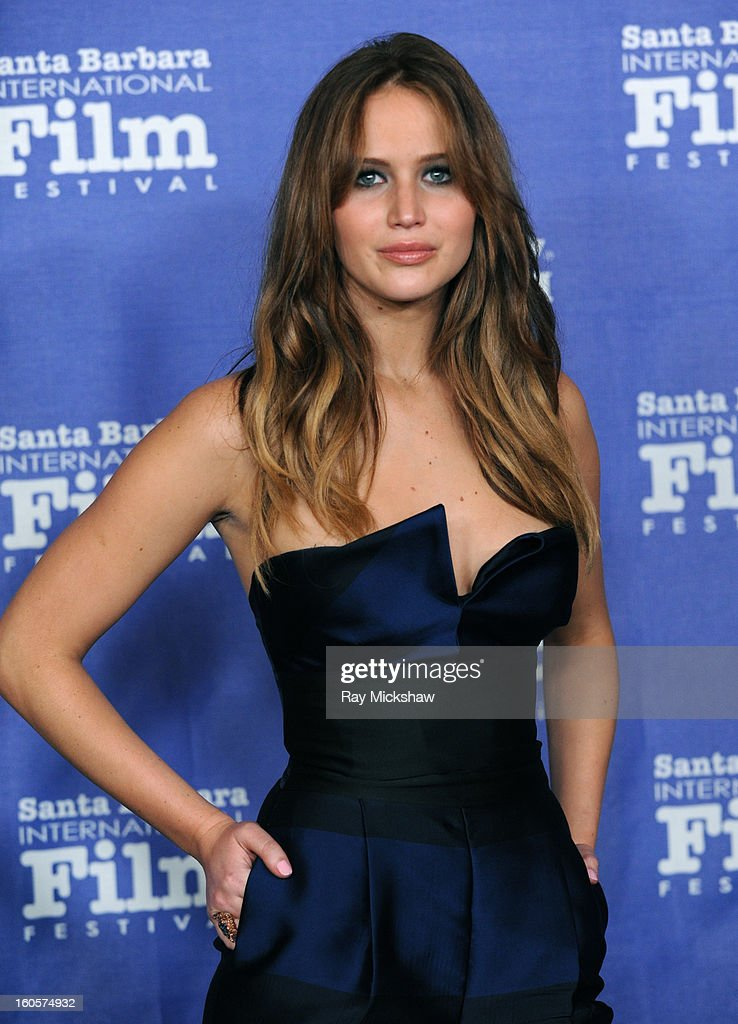 Actress <a gi-track='captionPersonalityLinkClicked' href=/galleries/search?phrase=Jennifer+Lawrence&family=editorial&specificpeople=1596040 ng-click='$event.stopPropagation()'>Jennifer Lawrence</a> attends the 28th Santa Barbara International Film Festival Outstanding Performer Of The Year Presented To <a gi-track='captionPersonalityLinkClicked' href=/galleries/search?phrase=Jennifer+Lawrence&family=editorial&specificpeople=1596040 ng-click='$event.stopPropagation()'>Jennifer Lawrence</a> on February 2, 2013 in Santa Barbara, California.