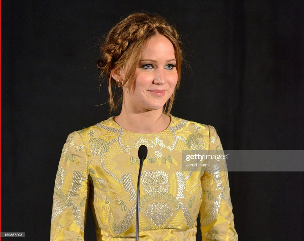 Actress Jennifer Lawrence attends the 38th Annual Los Angeles Film Critics Association Awards - Show at InterContinental Hotel on January 12, 2013 in Century City, California.