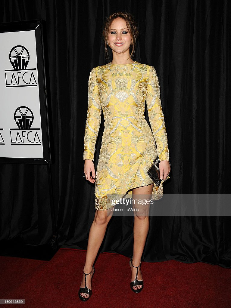 Actress Jennifer Lawrence attends the 38th annual Los Angeles Film Critics Association Awards at InterContinental Hotel on January 12, 2013 in Century City, California.