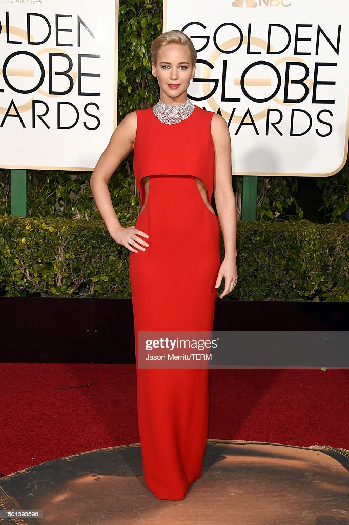 Actress <a gi-track='captionPersonalityLinkClicked' href=/galleries/search?phrase=Jennifer+Lawrence&family=editorial&specificpeople=1596040 ng-click='$event.stopPropagation()'>Jennifer Lawrence</a> attends the 73rd Annual Golden Globe Awards held at the Beverly Hilton Hotel on January 10, 2016 in Beverly Hills, California.