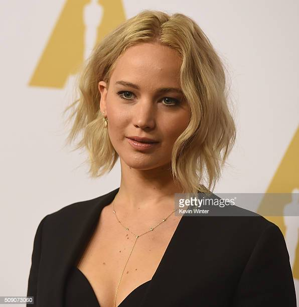 Actress Jennifer Lawrence attends the 88th Annual Academy Awards nominee luncheon on February 8 2016 in Beverly Hills California