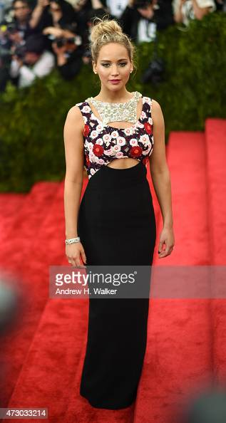 Actress Jennifer Lawrence attends the 'China Through The Looking Glass' Costume Institute Benefit Gala at the Metropolitan Museum of Art on May 4...
