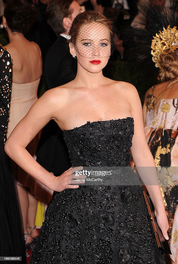 Actress Jennifer Lawrence attends the Costume Institute Gala for the 'PUNK: Chaos to Couture' exhibition at the Metropolitan Museum of Art on May 6, 2013 in New York City.