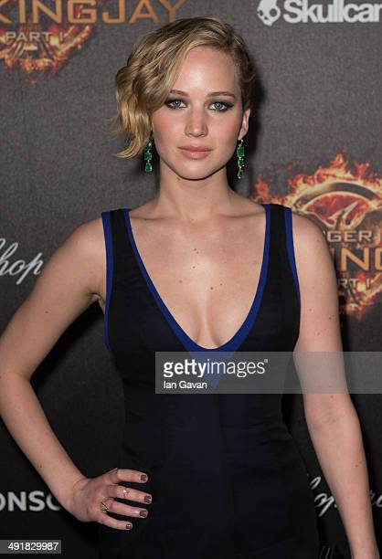 Actress Jennifer Lawrence attends 'The Hunger Games Mockingjay Part 1' party at the 67th Annual Cannes Film Festival on May 17 2014 in Cannes France