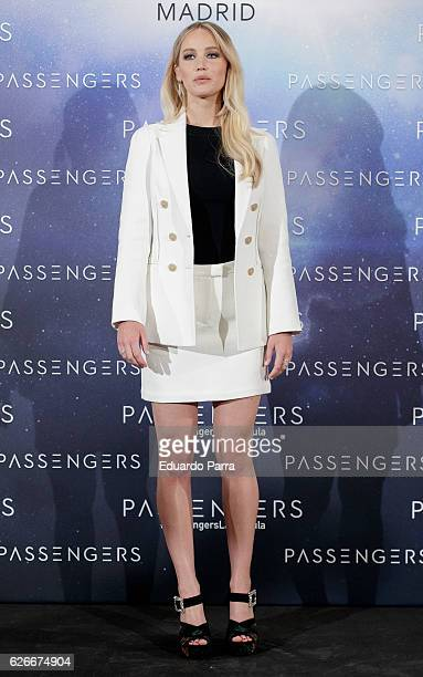 Actress Jennifer Lawrence attends the 'Passengers' photocall at Villamagna hotel on November 30 2016 in Madrid Spain