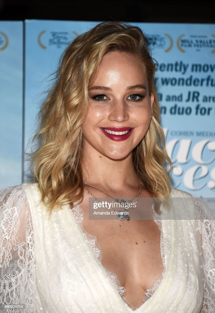 Actress Jennifer Lawrence attends the premiere of Cohen Media Group's 'Faces Places' at the Pacific Design Center on October 11, 2017 in West Hollywood, California.
