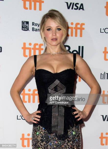 Actress Jennifer Lawrence attends the Premiere of 'Mother' during the 2017 Toronto International Film Festival September 10 in Toronto Ontario / AFP...