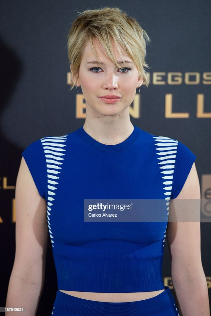 Actress Jennifer Lawrence attends the Spanish photocall of the film 'The Hunger Games - Catching Fire' (Los Juegos Del Hambre: En Llamas) at the Villamagna Hotel on November 13, 2013 in Madrid, Spain.