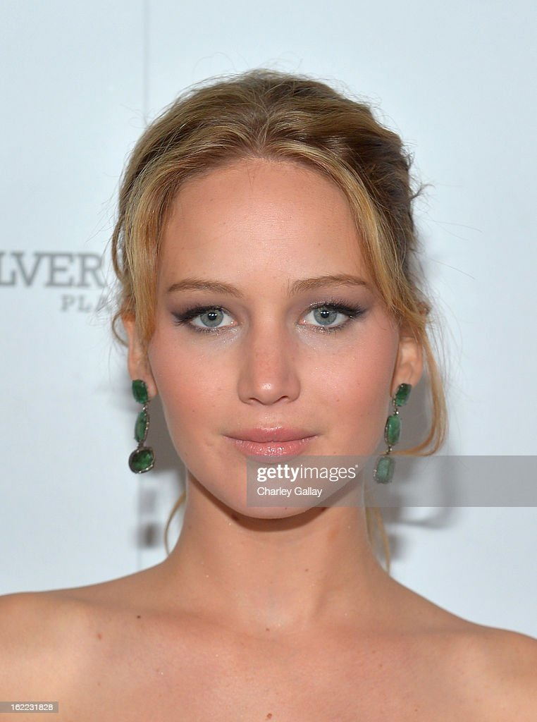 Actress Jennifer Lawrence attends the Vanity Fair, Barneys New York and The Weinstein Company celebration of 'Silver Linings Playbook' in support of The Glenholme School on February 20, 2013 in Los Angeles, California